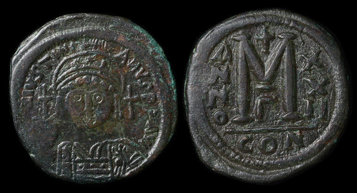 Coins: Ancient Byzantine (300-1400 Ad) Byzantine Empire Justin Half Follis Sophia Thessalonica Ae 21 Nice Coin