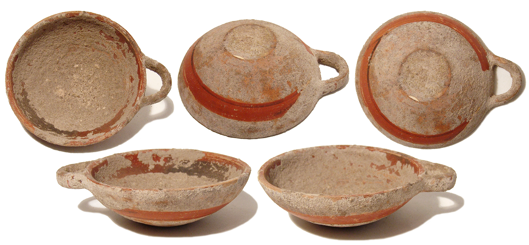 Ancient Greek c. 4th-3rd century BC. Gorgeous terracotta drinking cup. With shallow bowl with single loop handle decorated with bands of red-orange slip ...  sc 1 st  Ancient Resource & Ancient Resource: Ancient Greek Pottery and Attic Athens Ceramics