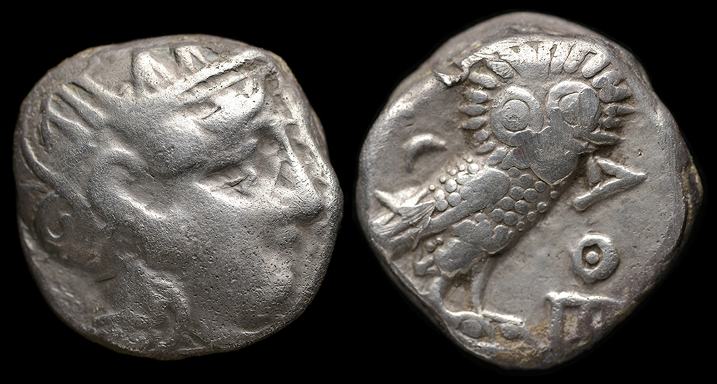 Ancient Resource: Athens Greece Coins for Sale-Athena and