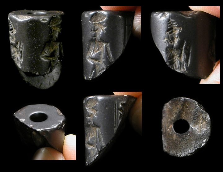 Pin Mesopotamian Cylinder Seal With Genius And Human ...