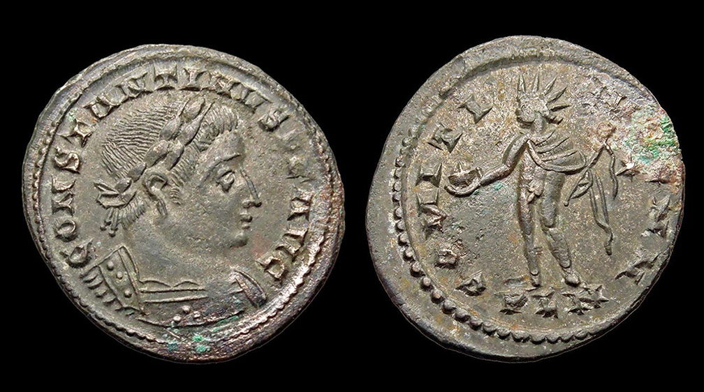 Roman bronze coins of Constantine the Great