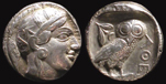 ancient Athens Athena Attica silver owl coins for sale